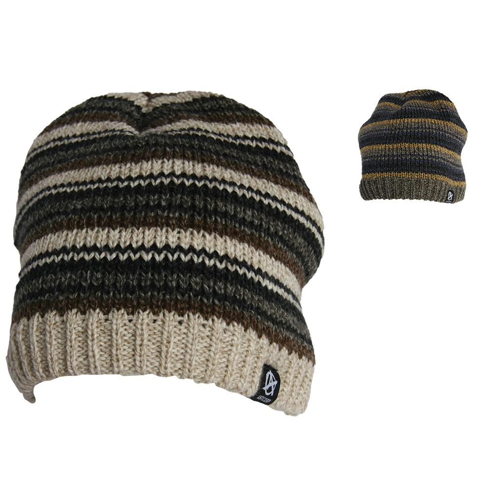 f16658bf23d3f MENS STRIPED LINED BEANIE